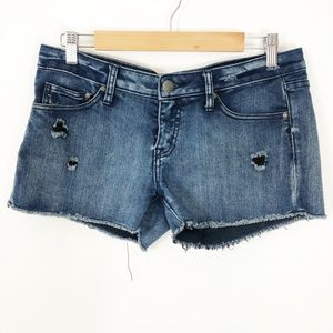 Volcom Distressed Raw Hem Denim Shorts, 9